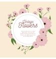 vintage flowers frame decoration vector image vector image