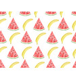 watercolor seamless pattern banana and vector image