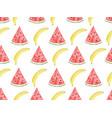 watercolor seamless pattern banana vector image
