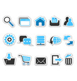 Web internet button icons set vector image vector image