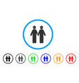 workers rounded icon vector image vector image
