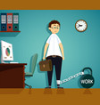 workplace in office vector image