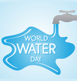 world water day letter on water background vector image