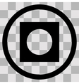 Flat black singl icon record vector image