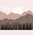 realistic mountain landscape design vector image