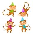 set with funny monkeys Cute little monkeys vector image