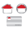 Home icon on the Indonesia flag vector image