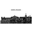 poland sopot architecture city skyline vector image