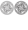 Celtic round ornament Set vector image