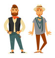 modern stylish men in fashionable clothes isolated vector image