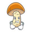 angry orange cap boletus mushroom mascot cartoon vector image vector image