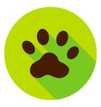 animal track circle icon vector image