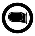 back side mirror icon black color simple image vector image vector image