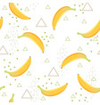 banana pattern healthy dessert fruit eating food vector image vector image