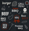 Barbecue Grill Icons and labels for any use on a vector image vector image