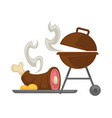 barbecue grill meat cooking icon vector image