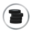 Barricade from tires icon in cartoon style vector image vector image