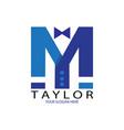 blue taylor logo vector image vector image