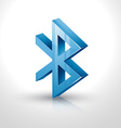 bluetooth icon vector image