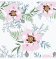 blush pink bouquets on white background vector image vector image