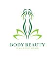 body beauty logo vector image vector image