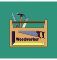 Carpentry toollabels and design elements vector image vector image