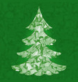 christmas tree pine tree isolated on vector image vector image