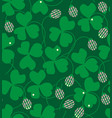 clover flowers and leaves vector image vector image