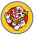 clown greeting vector image vector image