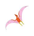 colorful pterodactyl dinosaur cute prehistoric vector image vector image