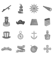 Columbus Day icons set black monochrome style vector image vector image