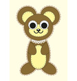 Cute cartoon Teddy bear in flat design for vector image