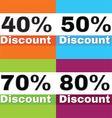 discount icons vector image