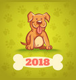 dog with bone 2018 vector image