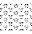 doodle cartoon seamless pattern with cows black vector image vector image