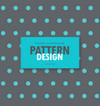 Elegant gray background with blue polka dots vector image
