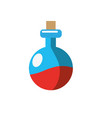 erlenmeyer flak with chemical potion experiment vector image