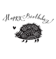 funny with hedgehog and vector image vector image