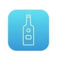 Glass bottle line icon vector image vector image