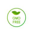 gmo free icon logo non gmo food label symbol vector image