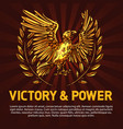 golden eagle symbol of victory and power vector image vector image