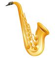 Golden saxophone on white background vector image vector image