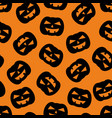 halloween tile pattern with black pumpkin vector image vector image
