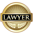 Lawyer Gold Label vector image vector image