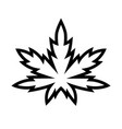 marijuana leaf or cannabis leaf weed icon vector image