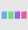 minimal covers design halftone gradients vector image