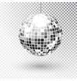 mirror glitter disco ball vector image