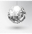 mirror glitter disco ball vector image vector image