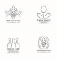 modern concept grapes and wine logo vector image vector image