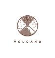 mountain eruption logo design template vector image vector image